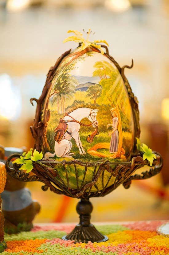 They are famous for their life-sized gingerbread house, but this year they pulled out all the stops on their elaborately decorated easter eggs.