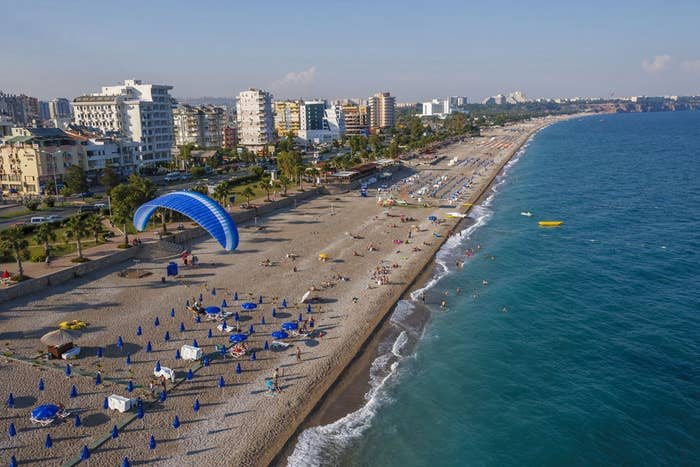 Situated alongside a coast lined with popular water parks, this beach is known for live music events and tons of attractions. You can even swim with dolphins!