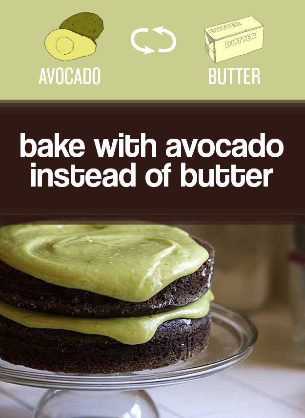 Swap mashed avocado for butter.