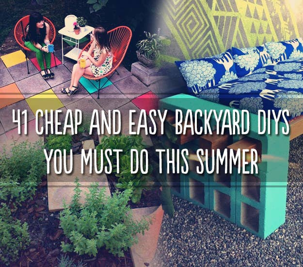41 cheap and easy backyard diys you must do this summer a beautiful mess lena sekine solutioingenieria