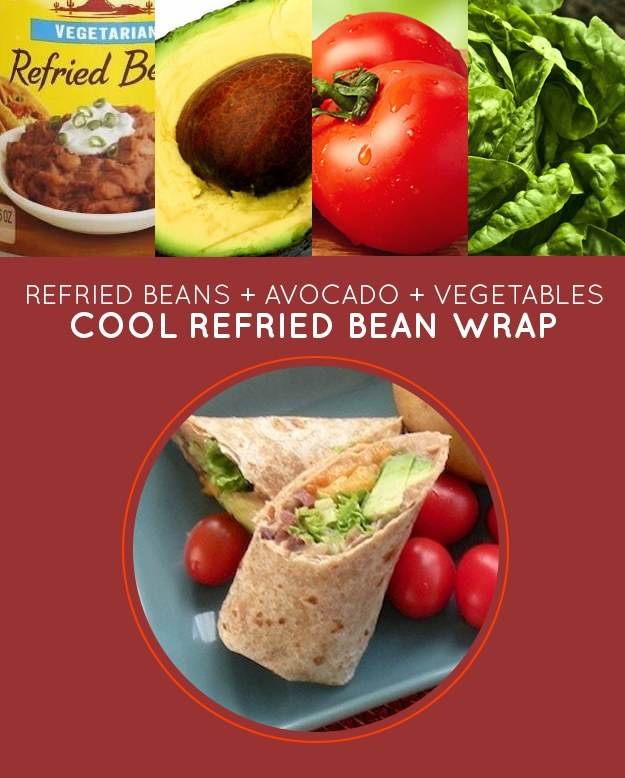 Cool Refried Bean Wrap
