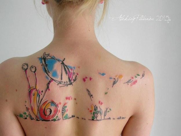 28 tatouages aquarelle sublimes