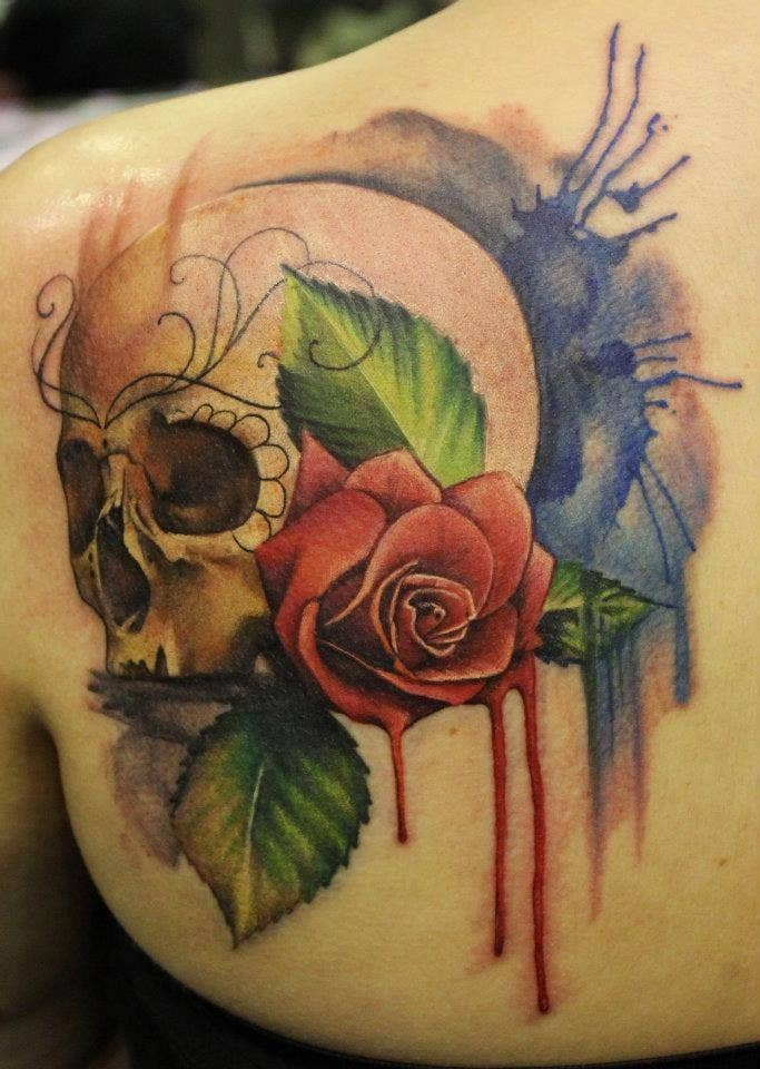 e6dbf83cd3bc9 28 Incredible Watercolor Tattoos And Where To Get Them