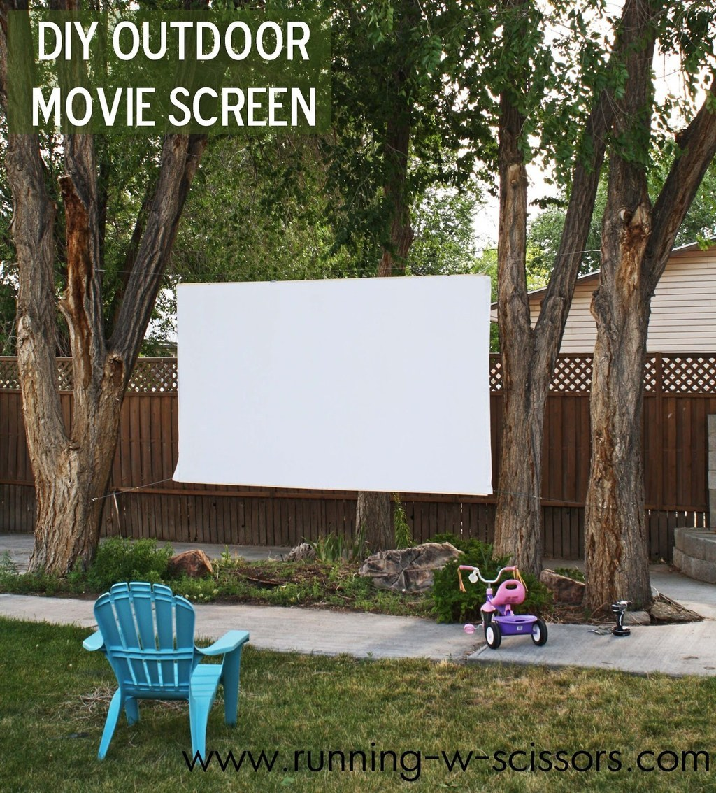 30. Making An Outdoor Movie Screen Is Easier Than You Think.