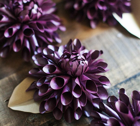 These require a little more work, but these paper dahlias will look amazing scattered about your home!