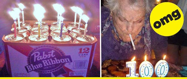 40 birthday fails... although these two pics look like wins. Grandma is DEFINITELY winning. - [Ranker]