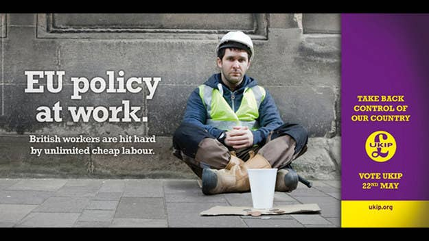 """The face of UKIP's anti-immigration European election campaign posters is an Irish actor who emigrated to the UK ten years ago, party officials confirmed on Friday.David O'Rourke, originally from Dublin but now resident in Edinburgh, appears as unemployed builder under the banner """"British workers are hit hard by unlimited cheap labour"""" in the party's campaign material. The poster is part of a £1.5 million nationwide billboard campaign.In a casting profile O'Rourke says he has been living in the UK for a decade and is a full-time professional actor: """"I'm hard working and fully committed to a role and my character to give the best performance I can deliver.""""O'Rourke has an IMDB page and previously appeared in Saltwater, a 2000 Irish film starring Brendan Gleeson as well as recent adverts for National Trust Scotland.A spokesman for UKIP said the decision to use actors in political posters was standard practice. The party wants to introduce a work permit scheme for high skilled workers in a bid to cut current immigration levels from above 200,000 people a year to below 50,000."""