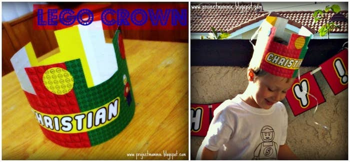 Download A Lego Birthday Crown Template