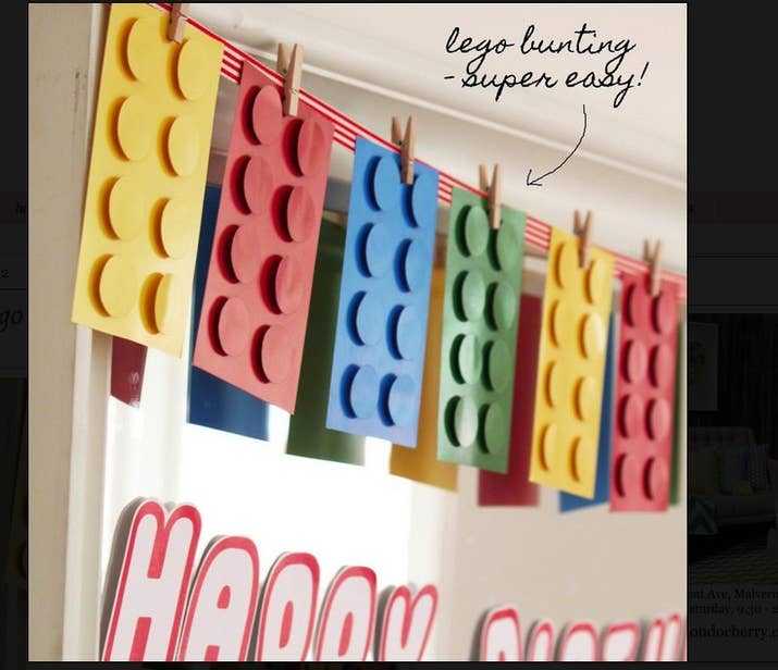 How to throw the ultimate lego birthday party brighten things up with super easy lego bunting solutioingenieria Choice Image