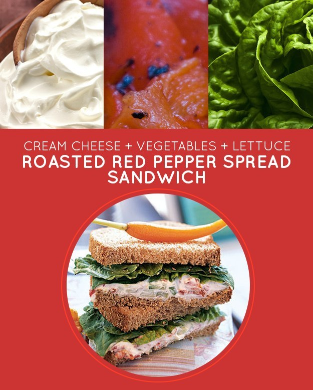 Roasted Red Pepper Spread Sandwich