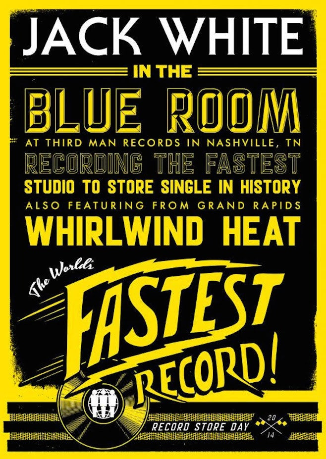 Promptly thereafter, the master recordings will be sent off for pressing so that they're ready to sell by 4 p.m. on that very same day. While they wait, patrons will see Whirlwind Heat's first show since 2006. This set is also rumored to be their last.