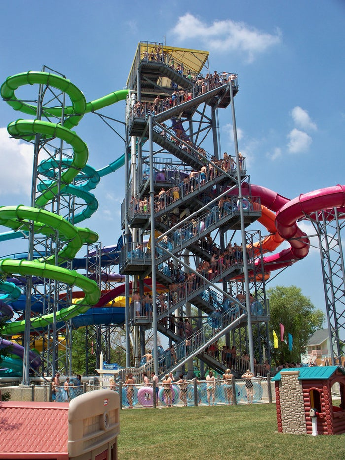Wildwater Kingdom is attached to Dorney Park, which means there's twice as much fun to be had. There are tons of rides and two wave pools to explore!