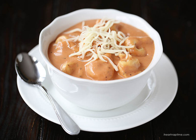 5. Creamy Tomato Tortellini Soup