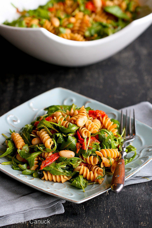 6. Arugula Salad with Roasted Tomatoes and Pasta
