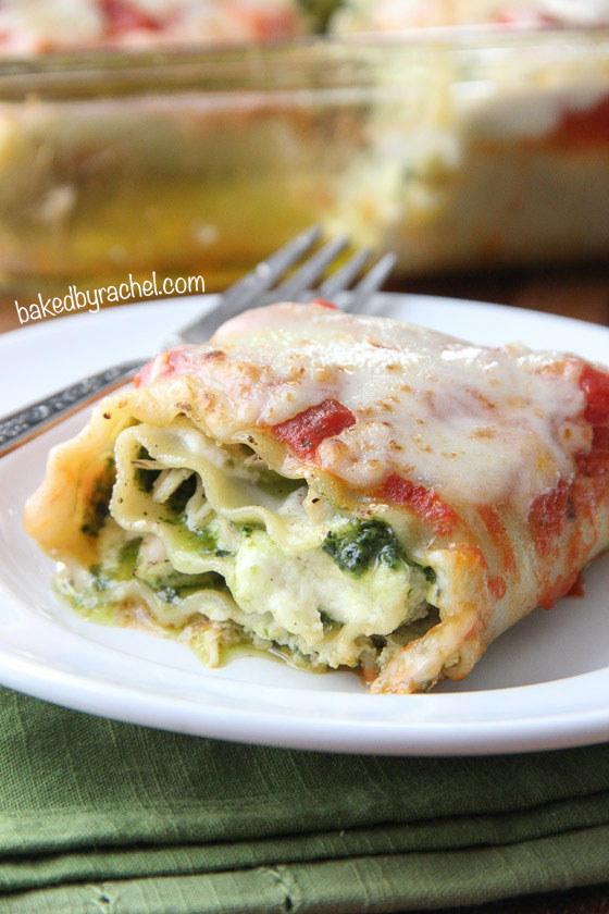 18. Pesto Chicken Lasagna Rolls