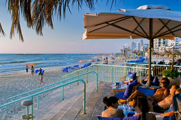 Located near Jaffa, this beach is named after its iconic Banana Beach Restaurant. With its tranquil, laid-back nature, it's known for extending the hangout past sunset. Bring a backgammon board, and you'll fit right in.