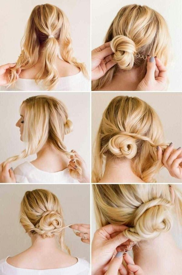 Pleasing 21 Ridiculously Easy Hairstyles You Can Do With Spin Pins Short Hairstyles Gunalazisus