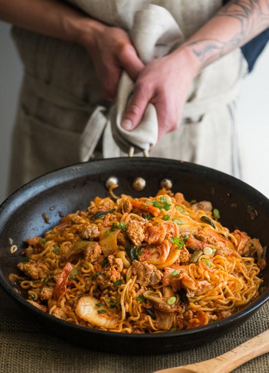4. Pork And KimChi Noodle Stir Fry
