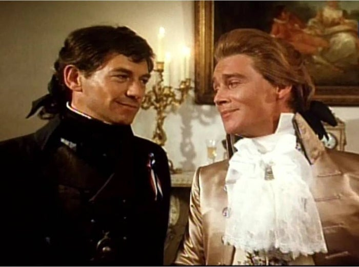 The Scarlet Pimpernel is the alter ego of Sir Percy Blakeney, a late 18th Century English nobleman who conceals his covert activities behind the disguise of a fop. As the Pimpernel, Blakeney uses intellect and daring to rescue French aristocrats from the guillotine and outwit the Revolutionary authorities.