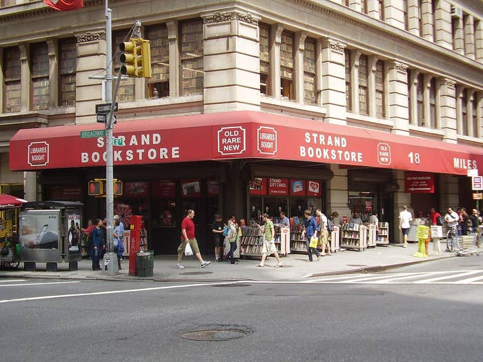 "With its marked down carts of cheap yet wonderful books, multiple floors, countless stacks, and a ""rare book room"" you don't want to miss out on the historic Strand Bookstore on the corner of 828 Broadway and 12th Street."