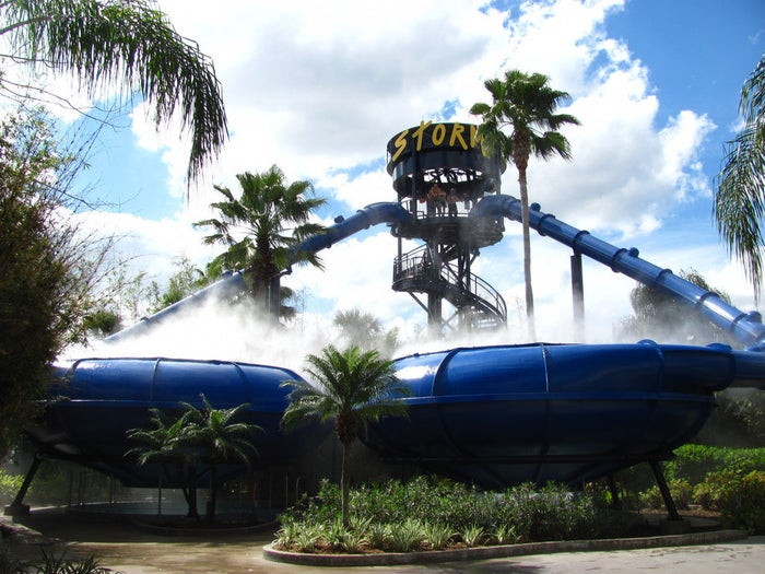 Not only does Wet 'n Wild Orlando have activities for people of all ages, but the water park also has heated pools for when the temperature drops.