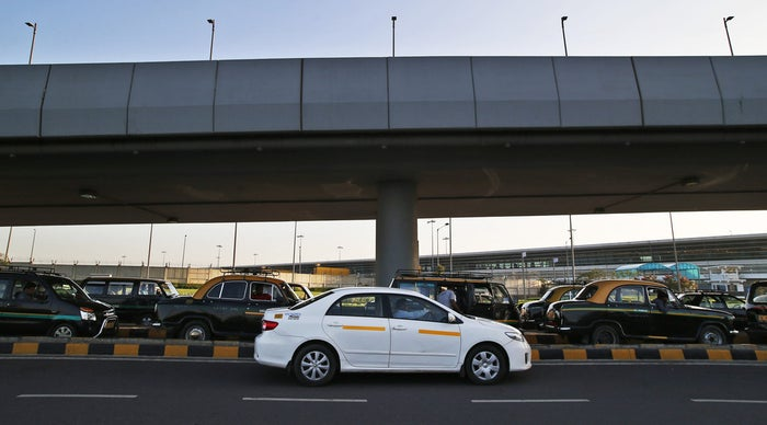 An Uber taxi in New Delhi, India. Someday, taxis like this may be automated.