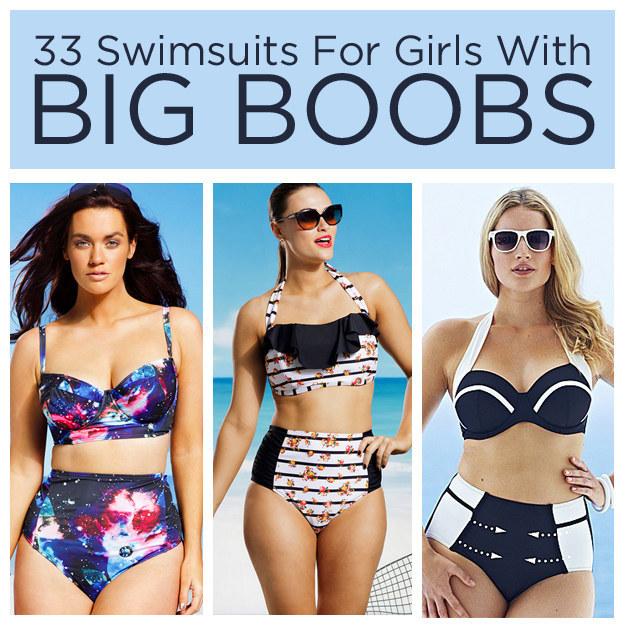 Large boobs in bikini