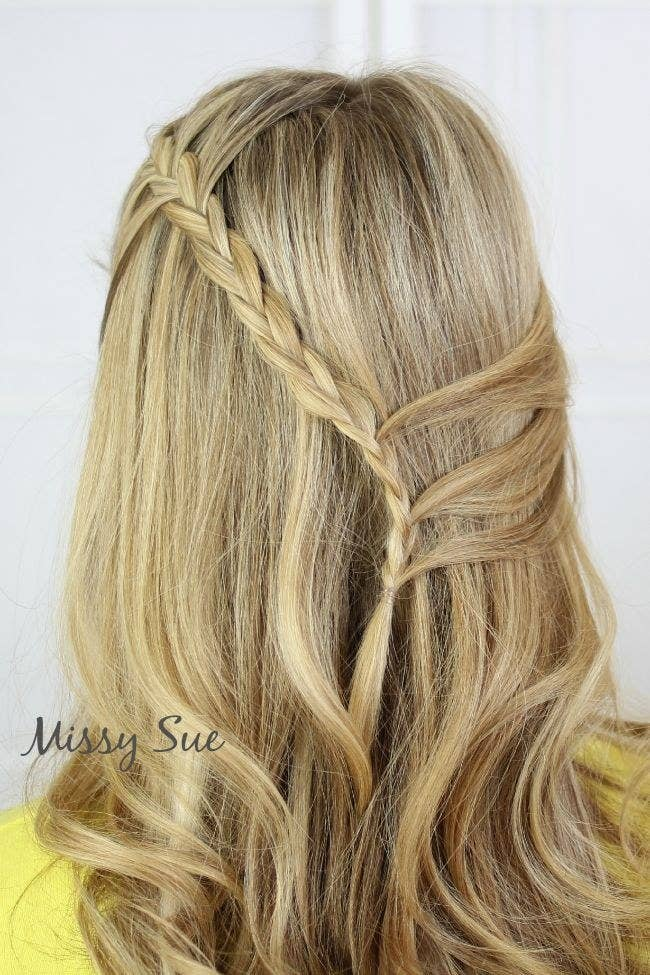 23 creative braid tutorials that are deceptively easy 1 the cascade braid solutioingenieria Image collections