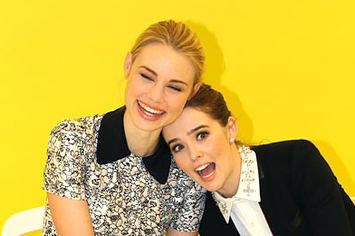 vampire academy stars zoey deutch and lucy fry are best friends and it s adorable