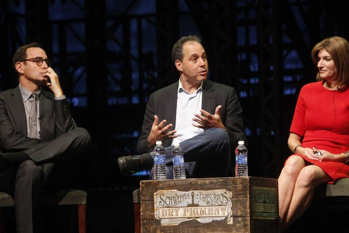 Chegg CEO Dan Rosensweig on an advertising panel in April 2012.