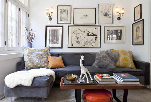 In Small Living Rooms, One Large Couch Instead Of Multiple Small Pieces  Actually Decreases The