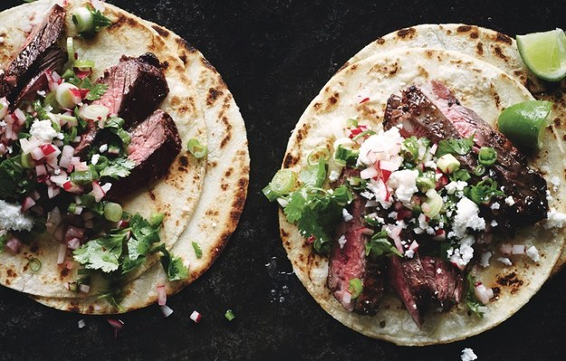 Steak Tacos With Cilantro Radish Salsa