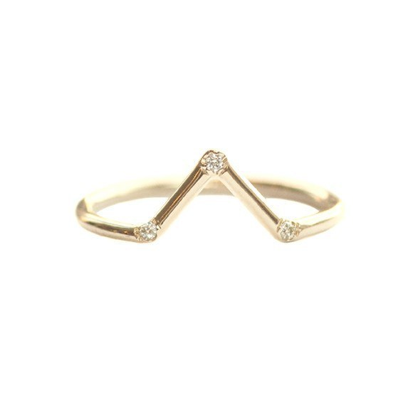 This triangle band with three white diamonds.
