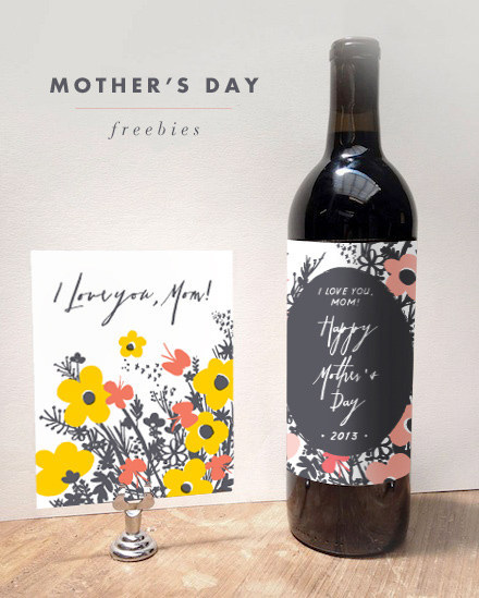 Add a personal label to a wine bottle.