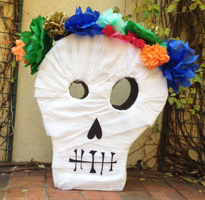 Make a big statement with tissue and TP with this 4ft tall skull!