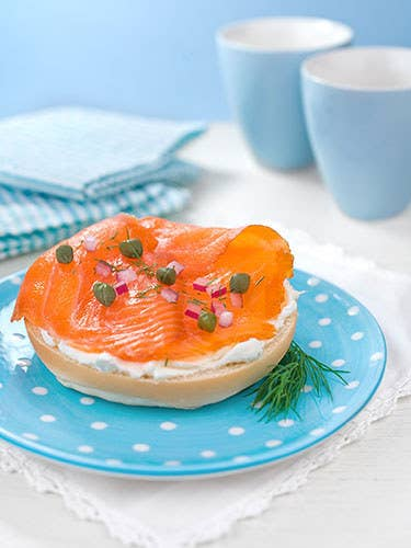 And then there's the standard bagel fare. Bagels+capers+lox. Colorful, elegant, understated, sexy as hell.