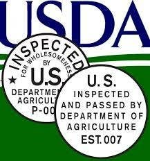Fact: Few industries in America are regulated and inspected as comprehensively as meat and poultry plants. U.S. meat packing plants where livestock are handled and processed are inspected continuously. Large plants may have two dozen inspectors on site in a two-shift day. Plants that process meat or poultry, but do not handle live animals are inspected daily.These inspectors have a wide range of authority. They may cite plants for non-compliance forcing changes in procedures; prevent the use of certain equipment; condemn meat products that they deem to be unsafe or mislabeled; seize and detain meat products; and withdraw inspectors from plants, which forces the plant to cease operating. A review of USDA records will show that they use their powers frequently.