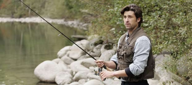 Young Dr. McDreamy in a cabin in Maine. This just makes sense.