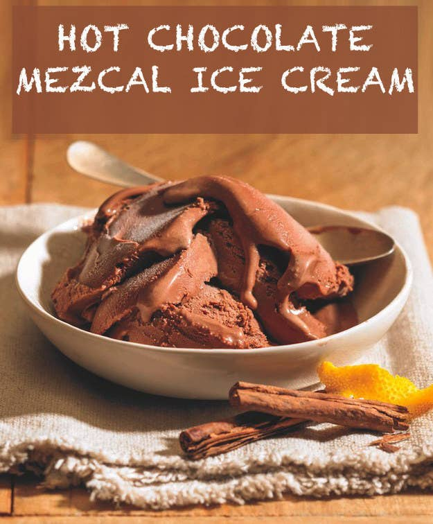 How to make hot chocolate mezcal ice cream the combo tastes just like a churro stick dipped in thick gooey mexican chocolate ccuart Image collections