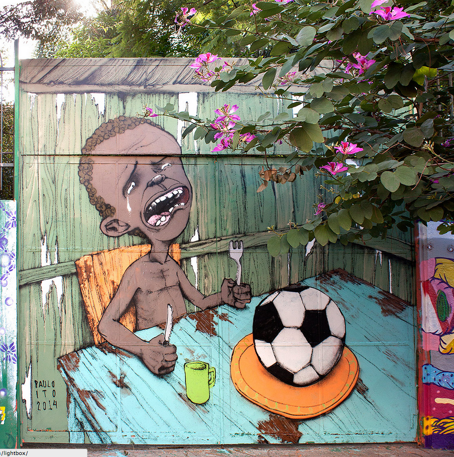 The Iconic World Cup Image By A Brazil Street Artist That FIFA Doesn't Want You To See