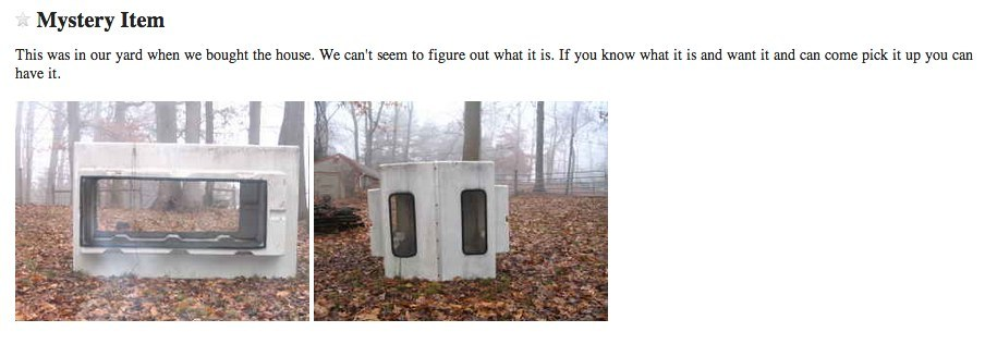 20 Downright Bizarre Free Things You Can Find On Craigslist