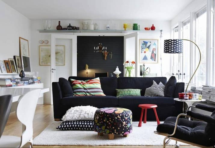 While darker colors make a room seem cozy, they also absorb light instead  of reflecting
