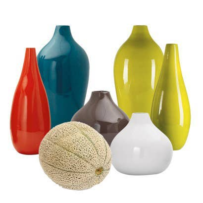 """Sabrina Soto, a home style expert from Target says: """"Decorative accents smaller than a cantaloupe crowd a room."""" Instead, go for fewer decorations that are are bigger. These vases are available here"""