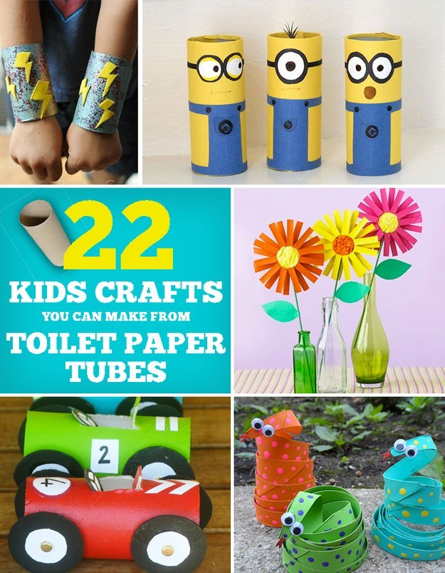 22 cool kids crafts you can make from toilet paper tubes for Things to make out of cardboard for kids