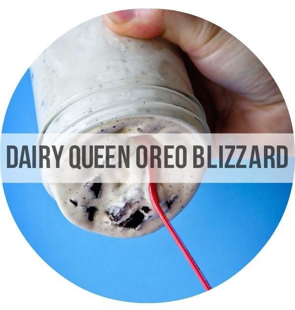 23. Homemade DQ Oreo Blizzard