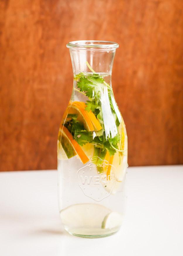 Cítricos y cilantro