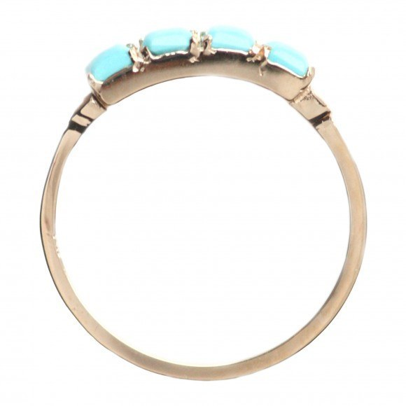 this four square turquoise ring