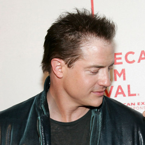 42 celebrity men who are less bald than they used to be - Brendan fraser bald ...