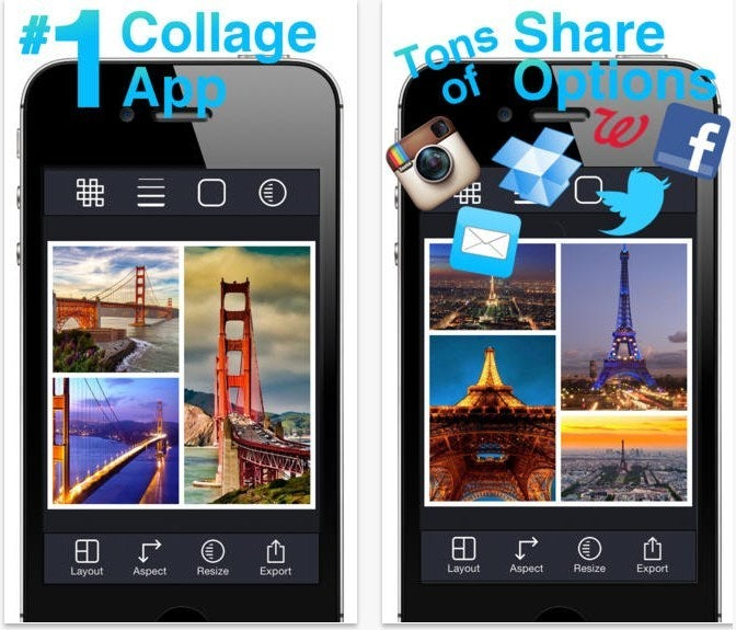 Use this free app to collage pictures of you guys together or you and your siblings.