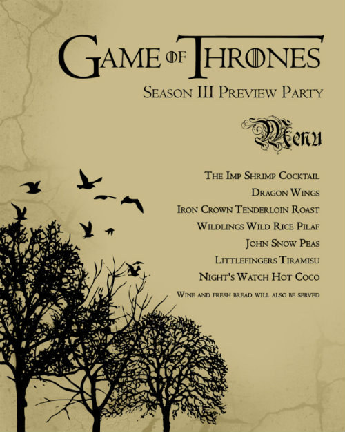 21 ways to up your  u0026quot game of thrones u0026quot  finale party